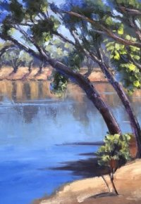 A Bend in the Murray River - Moama-5-Mile